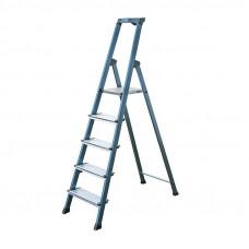 Лестница-стремянка KRAUSE Securo 5 ступеней, анодированная, Премиум класс (Код: 126436)