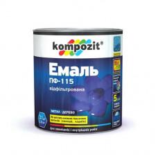 Эмаль Композит ПФ-115 коричневая 0,9кг