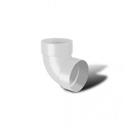 Отвод водосточной трубы двухмуфтовый 87° ПВХ RainWay D100 белый (9003)
