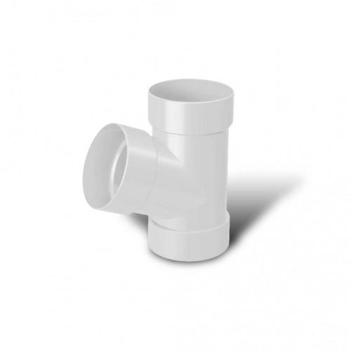 Тройник водосточной трубы 67° ПВХ RainWay D75 белый (9003)